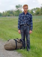 Dave Jordano: Joe, Hitch Hiker, Central Illinois, 2005
