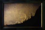 Kate Breakey: Moon Setting Over Saguaros