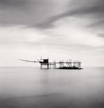 Michael Kenna: Trabocco Punta Aderci, Study 2, Vasto, Abruzzo, Italy