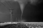 Mitch Dobrowner: Tornado Crossing Power Poles, 2016