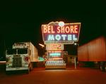 Steve Fitch: Bel Shore Motel Sign, Highway 80, Deming, New Mexico; 1980